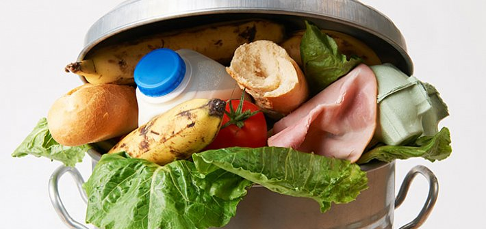 Food in the waste bin
