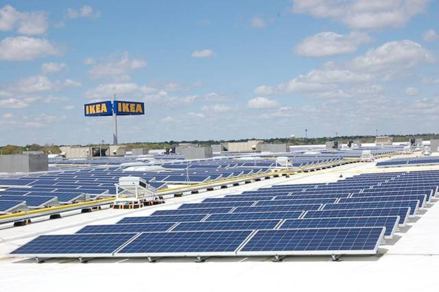 Solar panels at IKEA Kansas