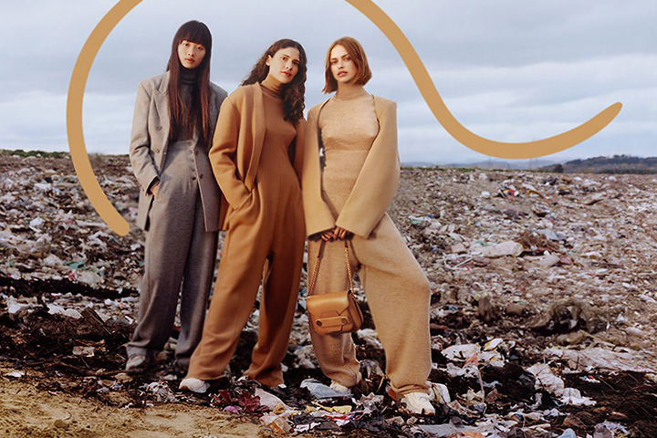 Photoshoot of Stella McCartney line in landfill