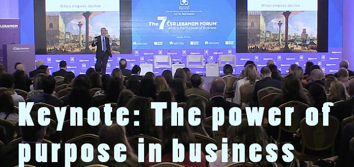 Keynote: The power of purpose in business