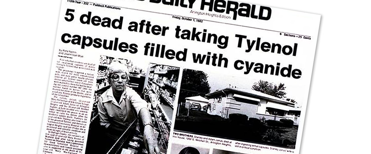 tylenol recall 1982 essay The tylenol murders had the true kafkaesque quality of a nightmare become real, of vague dreads taking on form and solidity in cold daylight such thoughts gripped americans last week as continue for 3 more pages » • join now to read essay the tylenol murders.