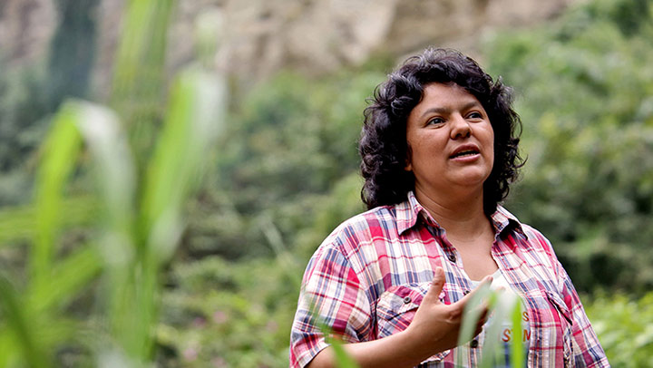 Berta Cáceres killed at age 45