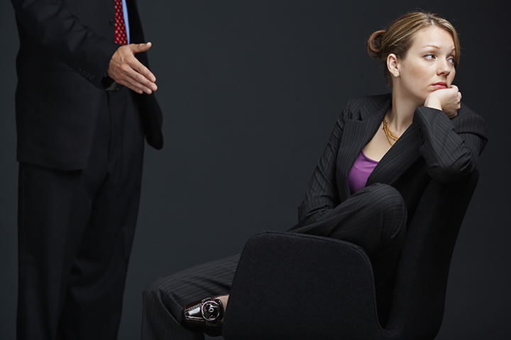 Businesswoman ignoring colleague